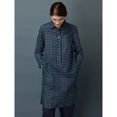 Buy Toast Ikat Check Shirt Dress, Blue Online at johnlewis.com