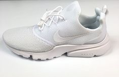 a56f4bd036fa9 Nike Air Presto Fly Running Shoes Size 10 Mens Triple White 908019 100 for  sale online