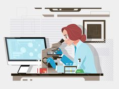 Laboratory designed by Dmytro Novitskyi. Connect with them on Dribbble; Forensic Science, Science Art, Law Of Attraction Meaning, Science Illustration, City Illustration, Medical Illustration, Art Illustrations, Medical Laboratory Scientist, Water Experiments