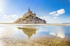mont saint-michel en normandía francia
