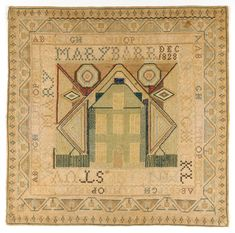 Philadelphia Museum of Art - Collections Object : Sampler. Mary Barr 1828
