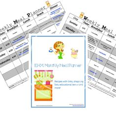 E.H.M. Monthly Meal Planner – April 2014 - Enchanted Homeschooling Mom