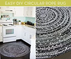 See how to turn a piece of cardboard, some strands of rope, and a few pom poms into a beautiful bohemian rug!