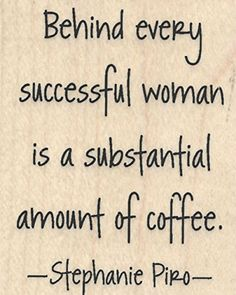 "{Single Count} Unique & Custom (2"" by 2.5"" Inches) ""Behind Every Successful Woman Is a Substantial Amount of Coffee Text"" Rectangle Shaped Genuine Wood Mounted Rubber Inking Stamp mySimple Products"