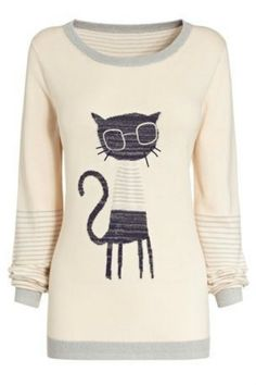 Glasses cat sweater