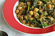 Indian Spiced Chickpeas with Rhubarb and Spinach Recipe