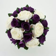 Firenze Flora: Beautiful Purple Wedding Bouquet - the prettiest i've seen so far - I'd love this!- i'd like this maybe slightly larger for my bouquet Purple And Silver Wedding, Purple Wedding Bouquets, Gold Wedding, Wedding Colors, Dream Wedding, Bouquet Wedding, Bridal Bouquets, Plum Wedding Flowers, Yellow Wedding