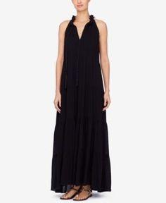 Catherine Catherine Malandrino Tiered Maxi Dress - Black XL