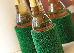 love this indoor outdoor coozie for a football party