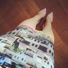 """""""Summer dress with my favorite heels #rockingthishotmonday #summer #fashion #heels #shoes #shoeporn #shoesoftheday"""""""