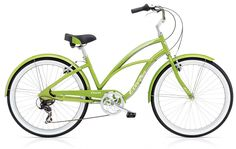 "Electra Cruiser Lux 7  Speed 26"" Ladies Green Metallic Aluminum Frame. $459.99 plus tax and shipping or pick-up in store. Call for details (949) 675.5010"