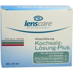 LENSCARE Kochsalzlösung Plus:   Packungsinhalt: 30X5 ml Lösung PZN: 01808715 Hersteller: 4 CARE GmbH Preis: 5,14 EUR inkl. 19 % MwSt.…