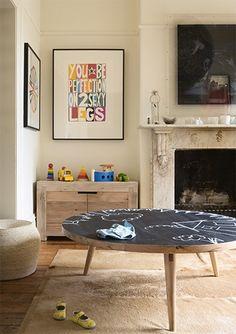 chalkboard doodle table