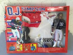 O. J. Simpson The Juice 9 1/2 Inch Action Figure Super Pro Set 26 Pieces New In Box Shindana Toys 1975