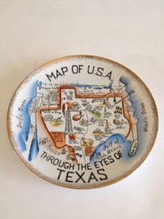 1976 Kitschy Humorous Texas Perspective Collectors Plate .... who knew I'd seen this. Thx for posting. I have my grandma s plate!
