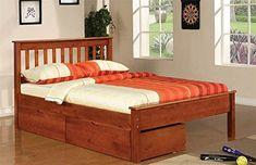 Donco Kids Contemporary Full Bed Light Espresso Finish 770859, Brown