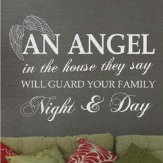 StickerBay - Quotes -Angel Wall Sticker