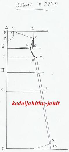 Pola Jubah longgar A line