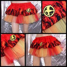 Hunger Games Girl On Fire Katniss Flames Mini TuTu by mtcoffinz, $46.00