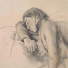 Graphic Art: Drawing – Jeunesse endormie, par Adolph Menzel