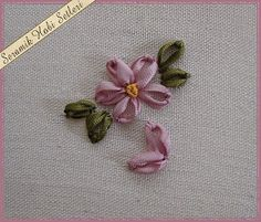 I ❤ ribbon embroidery . . . click for step by step pictures . . .
