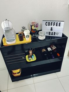 Coffee bars don't constantly need to be big and expensive why not if they are small and basic. Like the style of this coffee bar there are several designs and shades that you can select to make a coffee bar in your home.