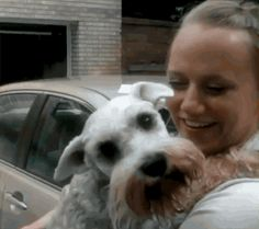 This dog faints in excitment seeing family member after 2 years. So sweet