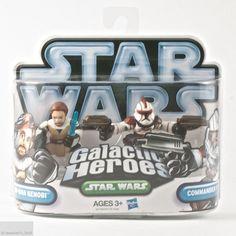 Star Wars Galactic Heroes Obi-Wan Kenobi & Commander Fil Figurines Hasbro New #Hasbro