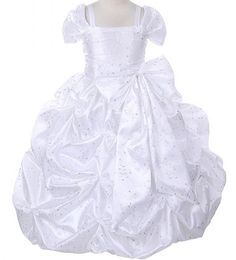 Adele: White Flower Girl Dress with Princess Embroidery