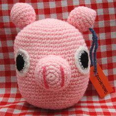 Chanchito amigurumi tejido a crochet, $50 en https://ofeliafeliz.com.ar