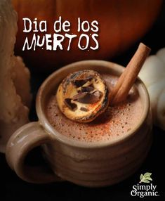 Dia de Los Muertos (Day of the Dead) dark hot chocolate recipe -- with cayenne, cinnamon and tequila, it's a delicious adult Halloween drink!