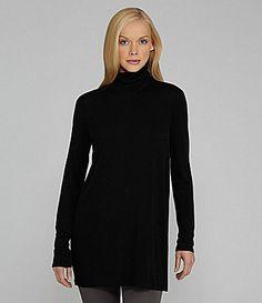 Eileen Fisher SilkJersey Turtleneck Tunic #Dillards  I think I need this.