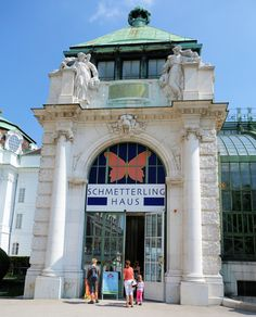 Vienna Butterfly House entrance Butterfly House, House Entrance, San Francisco Ferry, Austria, Europe, Mansions, House Styles, Building, Places