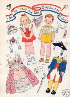 For the Washington's Birthday Party-Vintage Hilda Miloche paper dolls