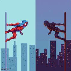 Hendry Roesly's Art Dumps - The latest Spiderman game on is awesome! Pixel Art Gif, Best Marvel Characters, Pixel Life, Character Concept, Character Design, Miles Morales Spiderman, Pixel Animation, 8bit Art, Superhero Villains