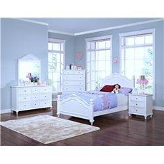 coaster 400561f-s4 dominique white 4 pcs full bedroom set | baby