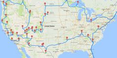Randy Olson, a researcher at the University of Pennsylvania, has calculated a route that visits all 47 national parks in the 48 contiguous states.