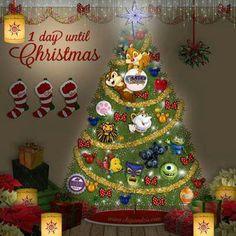 1 days until Christmas Days Before Christmas, Merry Christmas Eve, What Is Christmas, Magical Christmas, Christmas Greetings, Christmas Holidays, Winter Holidays, Disney Holidays, Xmas