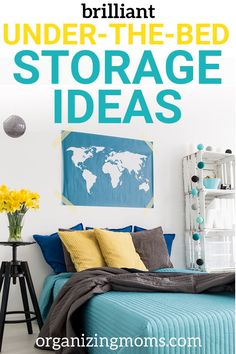 The Best Under-The-Bed Storage Ideas - Organizing Moms Brilliant under-the-bed storage ideas to help you maximize your space. Storage solutions you can find online and use for smart storage. Bedroom Organization Diy, Playroom Storage, Storage Spaces, Organization Hacks, Smart Storage, Bed Storage, Bedroom Storage, Storage Solutions, Storage Ideas