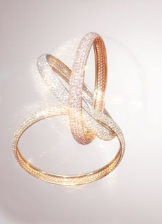 Cartier, e-catalogue - Cartier Jewelry 2013 TRINITY COLLECTION Trinity bracelet, three colour gold, diamond pavé.
