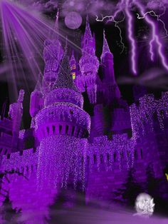 Purple castle.   For similar pins please follow me at -https://www.pinterest.com/annelouise1959/colour-me-purple/