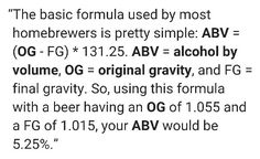 Abv conversion equation