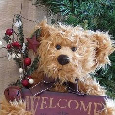 Welcome Bear by SnowmanCollector on Etsy, $19.50