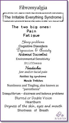 Fibromyalgia -The irritable everything syndrome by coolnana Fibromyalgia Syndrome, Painful Bladder Syndrome, Fibromyalgia Flare, Fibro Flare, Fibromyalgia Exercise, Chronic Fatigue Syndrome Diet, Chronic Stress, Rheumatoid Arthritis Symptoms, Fibromyalgia Symptoms Checklist