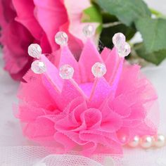 Luxury Baby Girls Lace Crown Pearl Princess Hair Clip Shiny Hair Accesoriess #UnbrandedGeneric