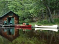 Simple, functional boathouse for smaller boats/canoes.