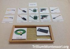 Garden Tools 3 Part Cards (free printable from Montessori Printshop)