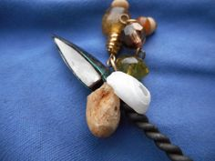 handmade masculine feminine stone scepter wand by TheVintageAdvantages on Etsy