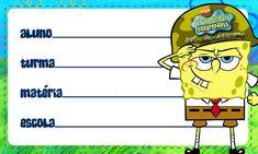 Etiqueta Escolar Personalizada Bob Esponja 3