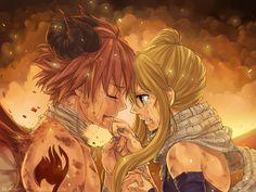 Anime Fairy Tail  NaLu (Fairy Tail) Natsu Dragneel Lucy Heartfilia Wallpaper